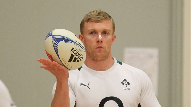 Keith Earls will start on the left wing for Ireland