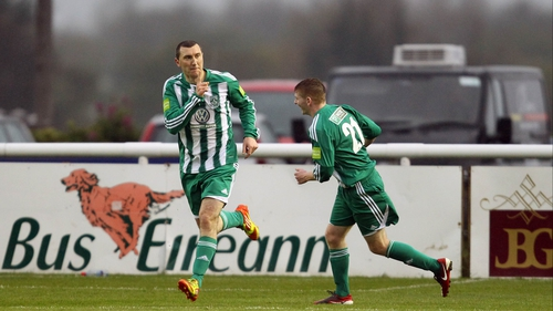 The evergreen Jason Byrne was the star man at the Carlisle Grounds