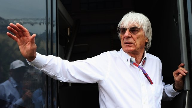 Bernie Ecclestone said he would not enter an auction to but F1