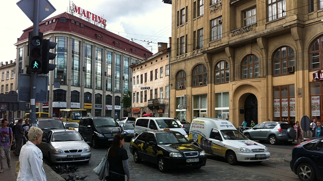 Traffic fun in Lviv