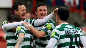 On the domestic front Shamrock Rovers beat Shelboure 3-2 at Tolka Park