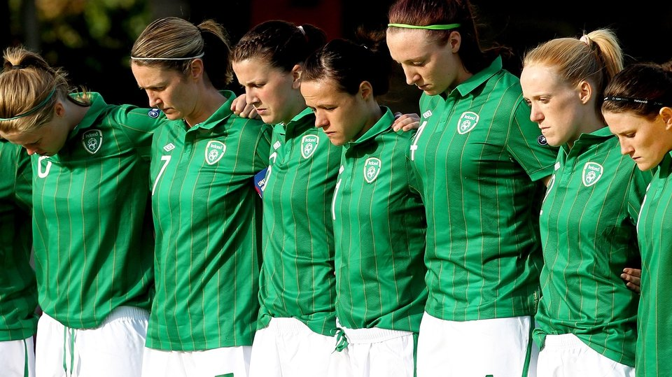 The Republic of Ireland women's team were in action against Scotland in a Euro 2013 qualifier