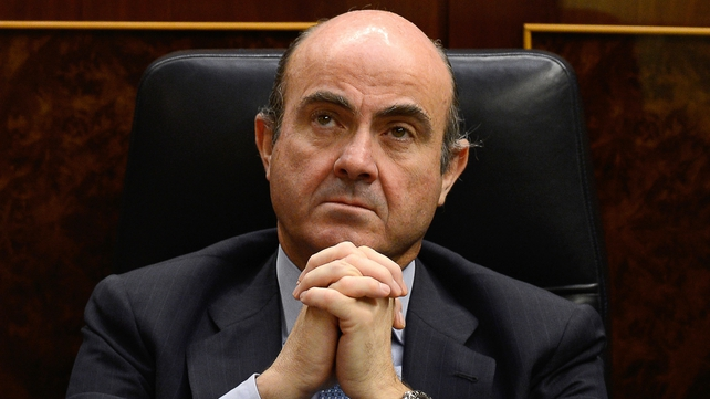 Angela Merkel praised Luis De Guindos' handling of the Spanish crisis