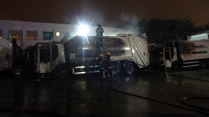 The fire at the Ballymount facility was brought under control just before 1am