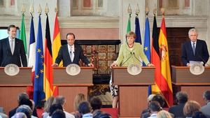 The leaders of Europe's four biggest economies met in Rome ahead of next week's summit