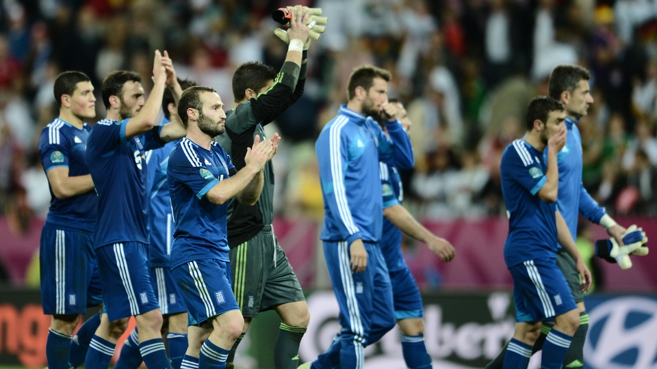Greek players pay tribute to their vocal supporters