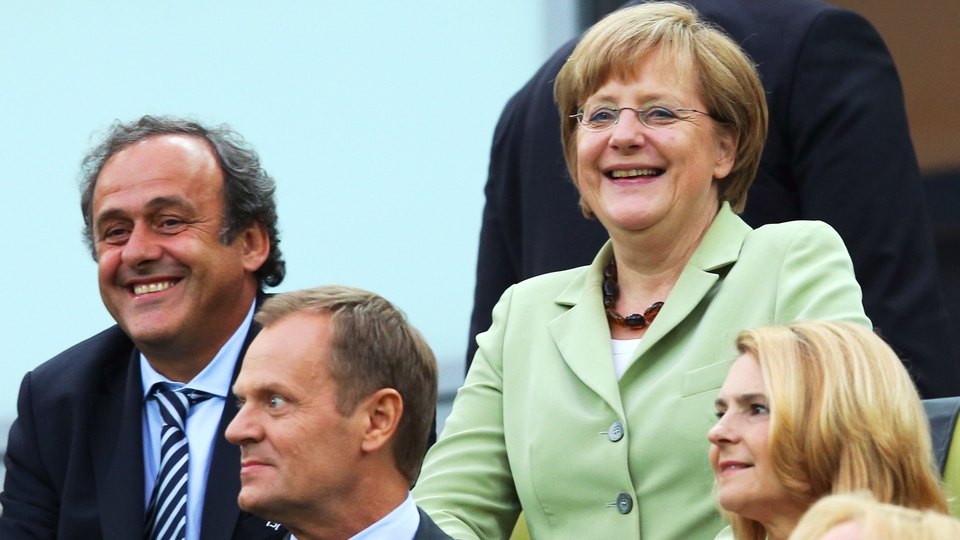 German Chancellor Angela Merkel was in attendance along with Micheal Platini