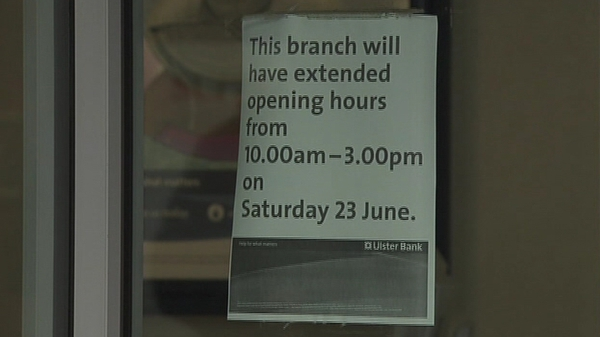 20 Ulster Bank branches to open tomorrow until 1pm