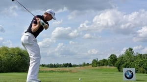 Danny Willett of England plays a shot during the third round of the BMW International Open