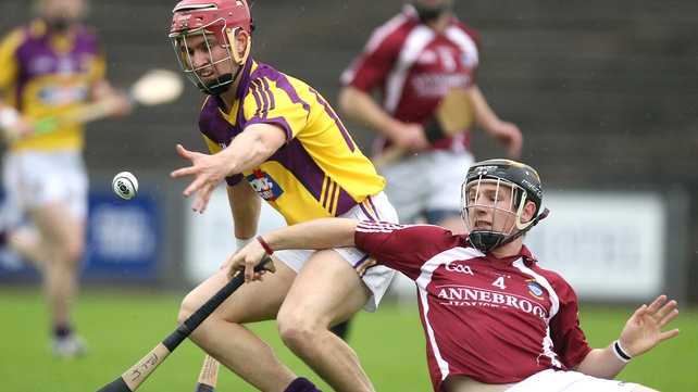 Wexford's Paul Morris with Paul Fennell of Westmeath