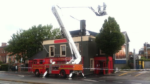Five crews had attended the fire early this morning