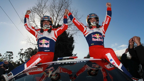 Sebastian Loeb of France (R) and co driver Daniel Elena