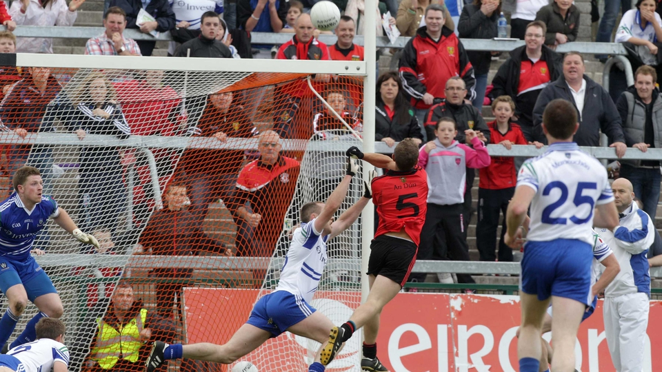 Trailing by nine points at one stage, Darren O'Hagan punched the winning score in injury time