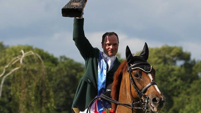Paul Beecher celebrates his win