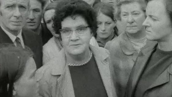 The accompanying image is from a RTÉ Television news report from 14 August 1969, where people from the Bogside voice their reactions to the arrival of British troops.