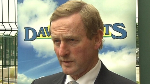 Enda Kenny said the Government would honours its promises