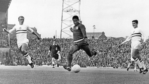 Eusebio in action against Hungary during the 1966 World Cup in England