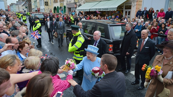 The Queen was greeted by hundreds of wellwishers in Enniskillen