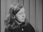 Bernadette Devlin pictured at a Press Conference in Dublin following the Belfast to Derry march.