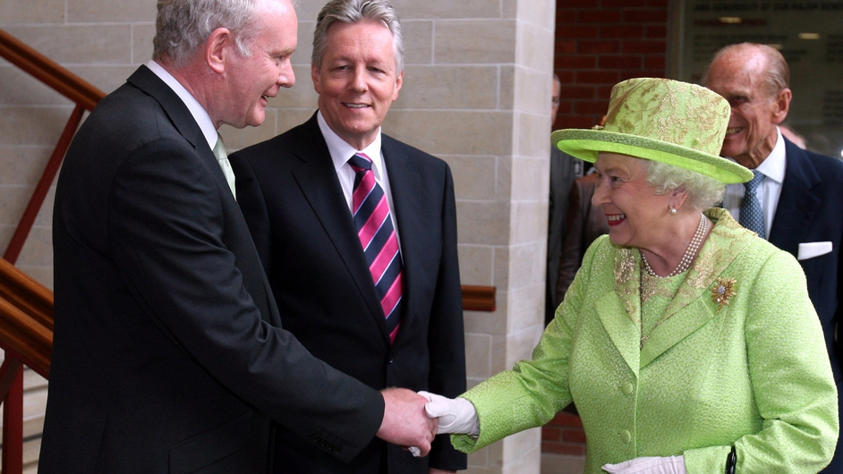 JUNE: Britain's Queen Elizabeth and Sinn Féin's Martin McGuinness shook hands for the first time