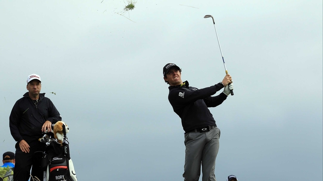 Rory McIlroy is hoping the rain and wind stays away this weekend