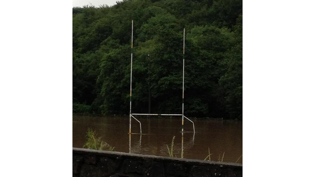 Flooding on Glanmire GAA pitch (submitted by Trudy English via yourphotos@rte.ie)