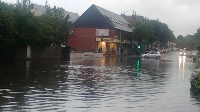 Flooding on the Lisburn Road in Belfast (submitted by Sarah Donnelly to yourphotos@rte.ie)