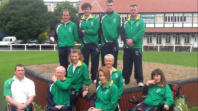 Just some of the 49-member Irish Paralympics team