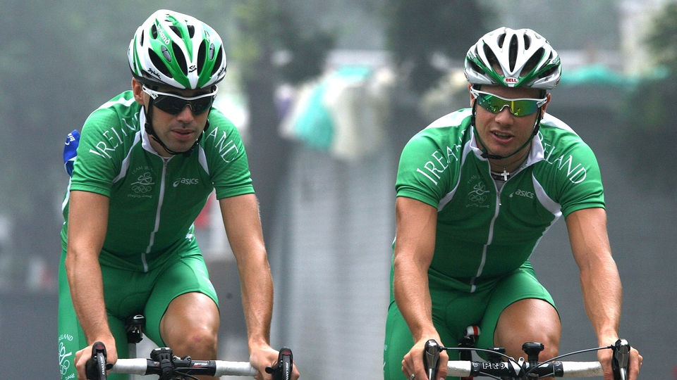 Philip Deignan (l) and Nicolas Roche competed for Ireland in road cycling. Deignan came 81st, Roche was 64th