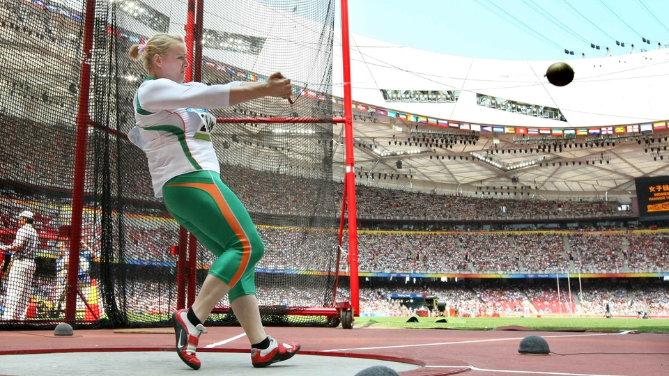 Eileen O'Keeffe was highly tipped, but could only manage tenth in the hammer heats