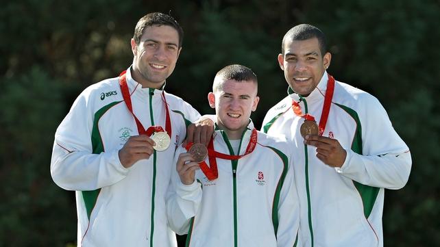 Kenneth Egan, Paddy Barnes and Darren Sutherland