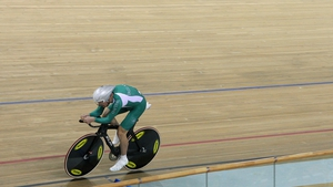 David O'Loughlin didn't manage to make it out of the qualifying event in track cycling