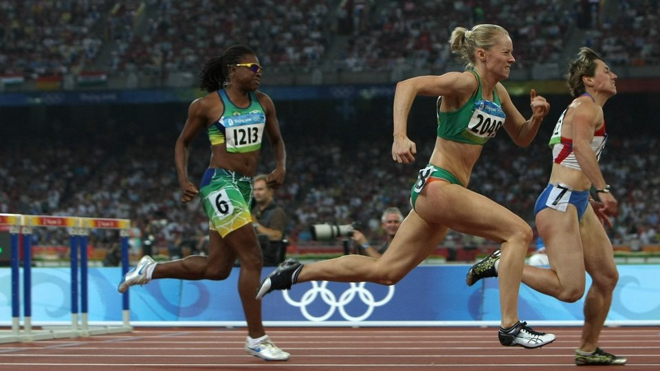 Derval O'Rourke couldn't get out of her heats in the 100m hurdles
