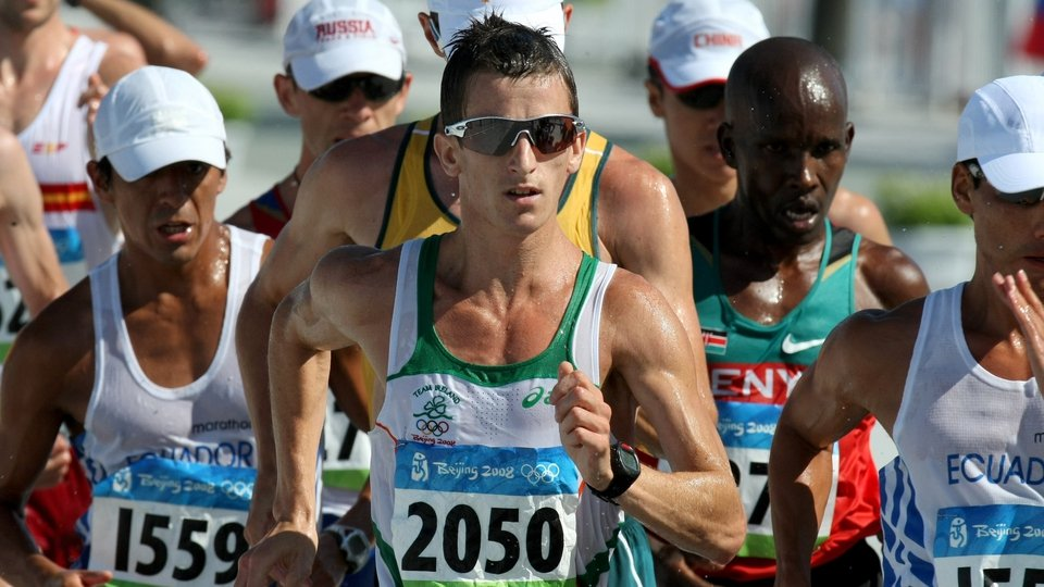 Rob Heffernan placed eighth in the 20km walk