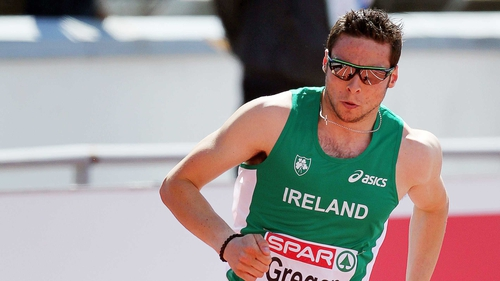 Brian Gregan claimed victory in his 400m race