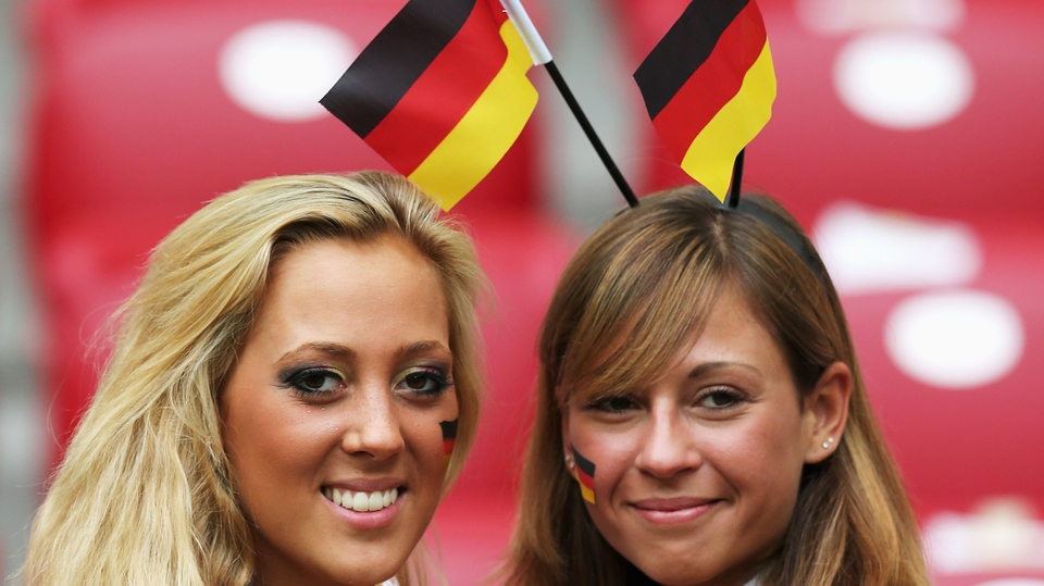 The German fans were in confident mood ahead of the semi-final meeting with Italy