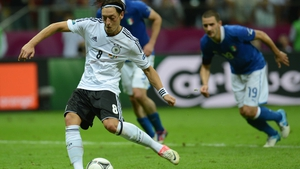 Mesut Ozil's late penalty gave Germany hope