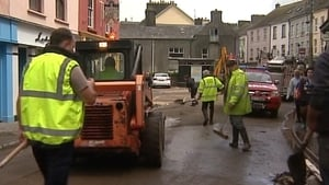 Areas of Cork were flooded following rainfall on 27-28 June