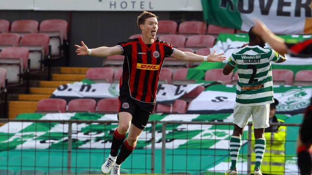 Peter McMahon has scored a brace for Bohemians as they crushed Shamrock Rovers 4-0