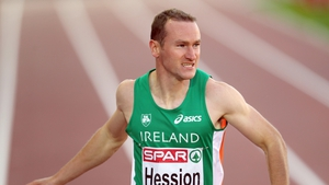 Paul Hession was second in the 200m in Lucerne