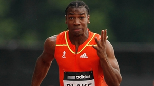 Yohan Blake's time of 9.75 seconds was the fastest in the world this year