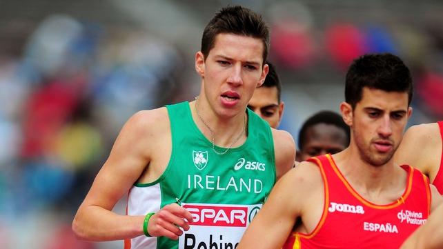Paul Robinson ran the 1500m in 3:35.22 in Rieti