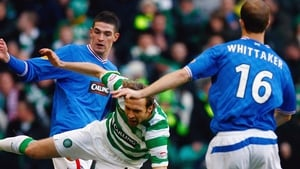 Kyle Lafferty (l) and Steven Whittaker have left Rangers