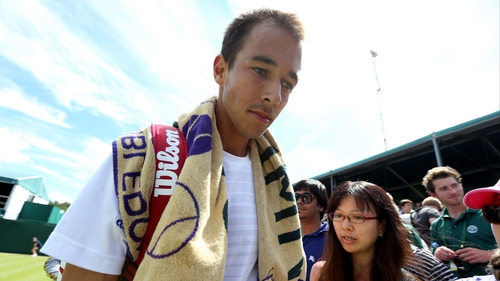 Lukas Rosol failed to repeat his heroics of Thursday night