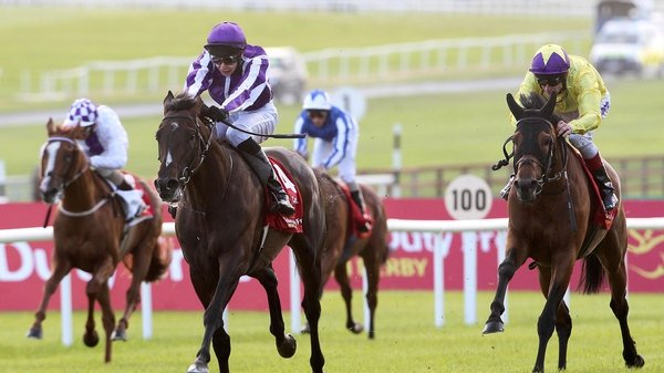 Joseph O'Brien pushes Camelot out as the colt maintained its winning sequence this season