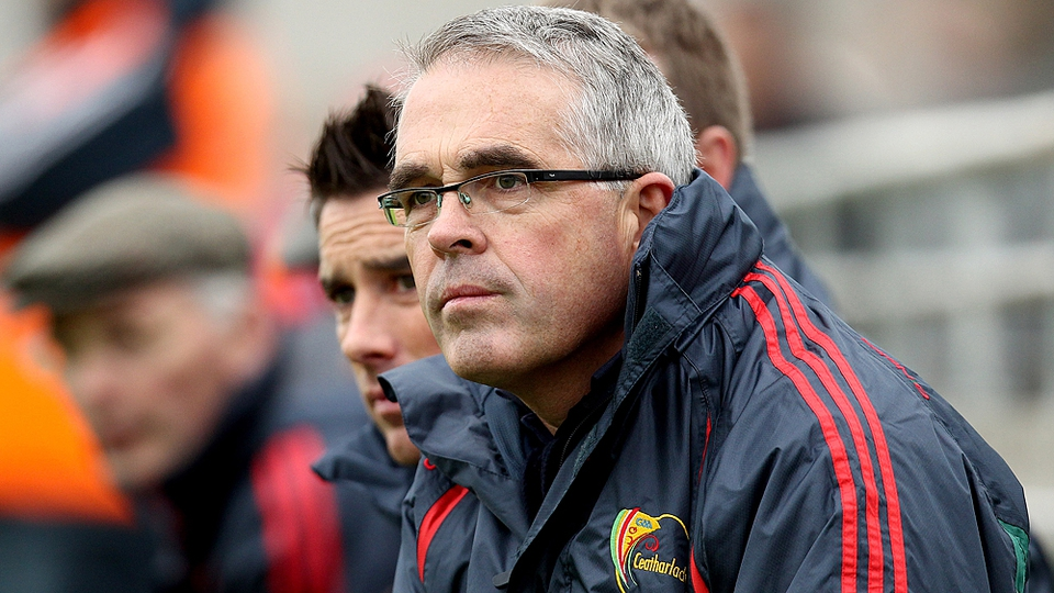Luke Dempsey announced his resignation as manager of Carlow following their defeat to Laois