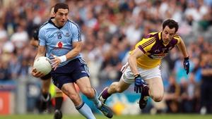 Dublin's Bernard Brogan leaves Graeme Molloy of Wexford in his wake