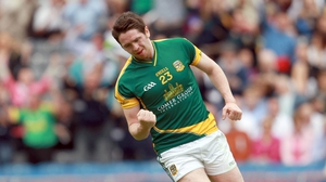 Peadar Byrne of Meath celebrates scoring his side's only goal of the game
