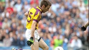 Wexford's Redmond Barry scores the first goal of the game against Dublin at Croke Park
