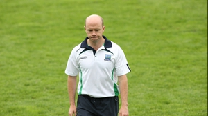 Fermanagh manager Peter Canavan grimaces after the final whistle at Brewster Park
